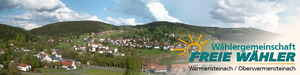 Wählergemeinschaft Freie Wähler Warmensteinach / Oberwarmensteinach - 2014